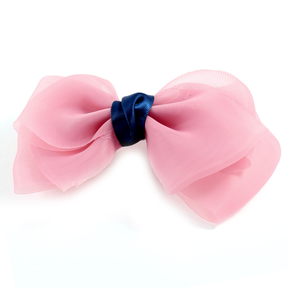 Lady Pale Pink Triplex Organza Bowknot Decoration Alligator Hair Clip