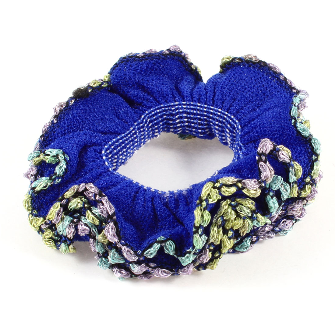 Three Layers Colorful Lace Dark Blue Flower Hair Holder