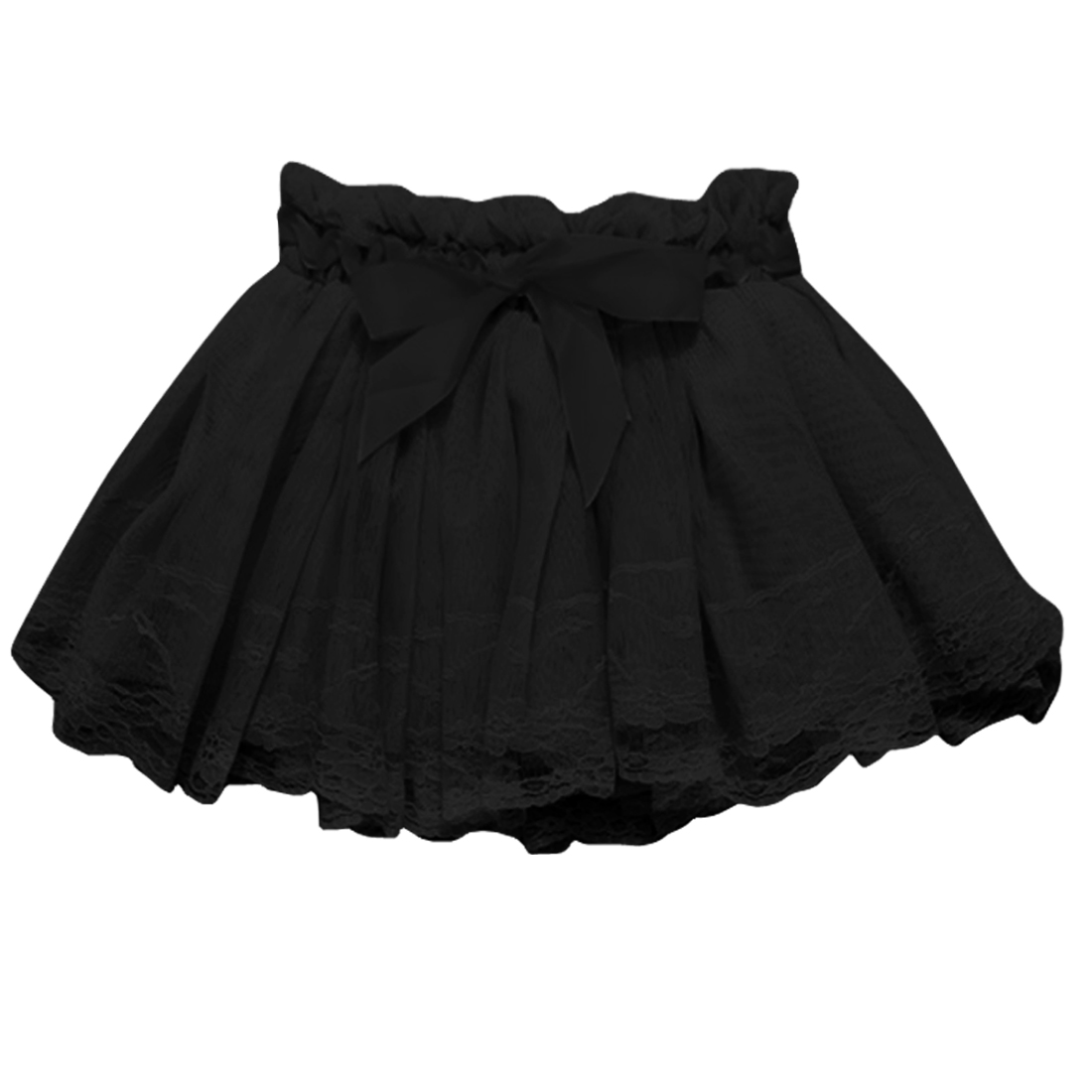 3T Black Lace Style Round Trim Stylish Pricess Skirt for Girls