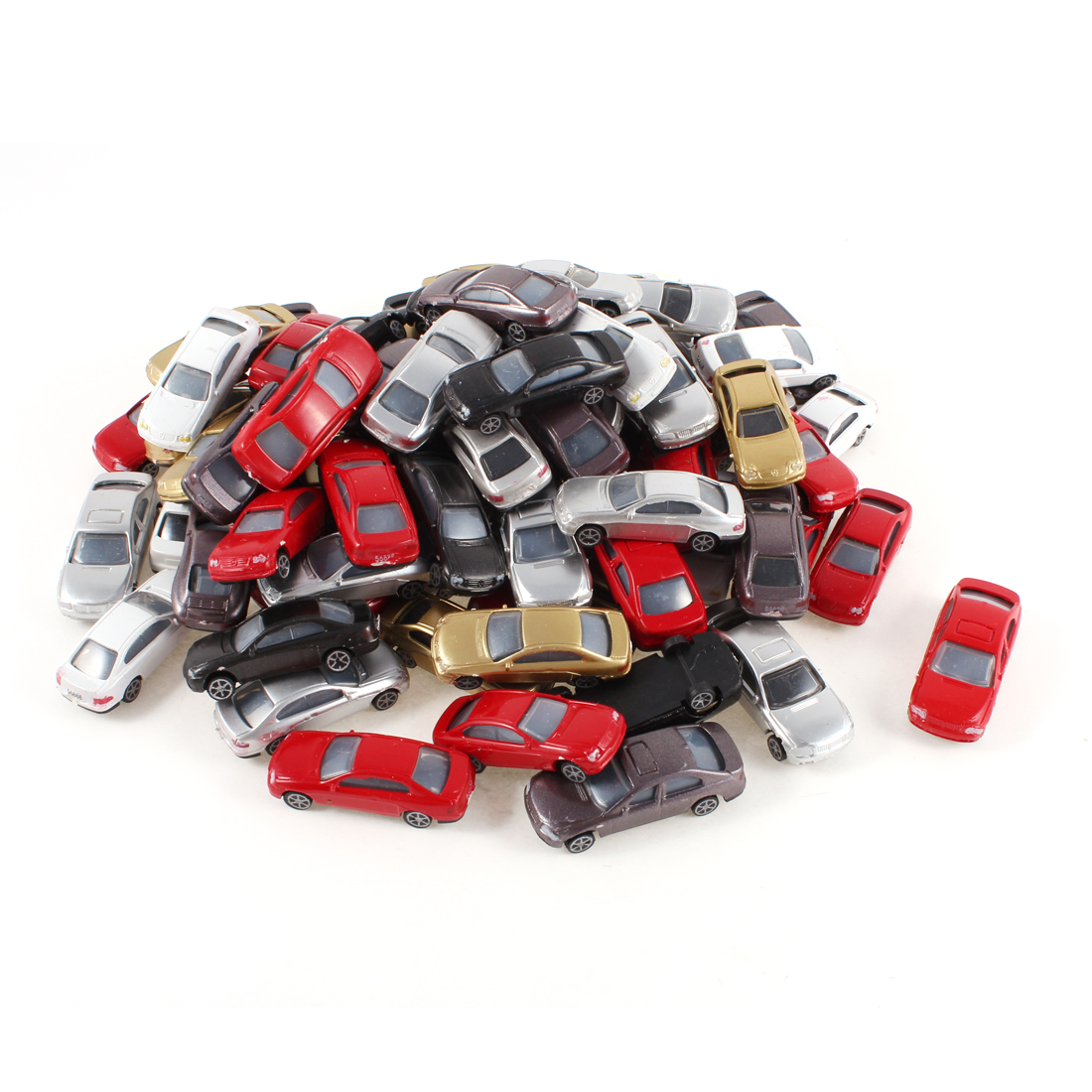 100 Pieces Assorted Colors Plastic Model Car Toy Layout Scene 1:100