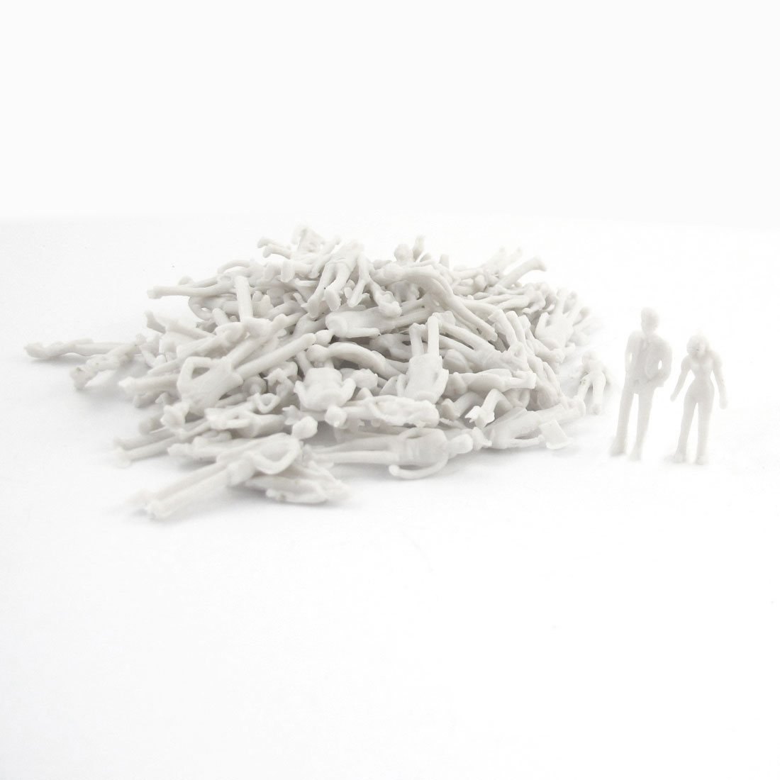 100pcs Unpainted Different Charaters Model People for Building Layout