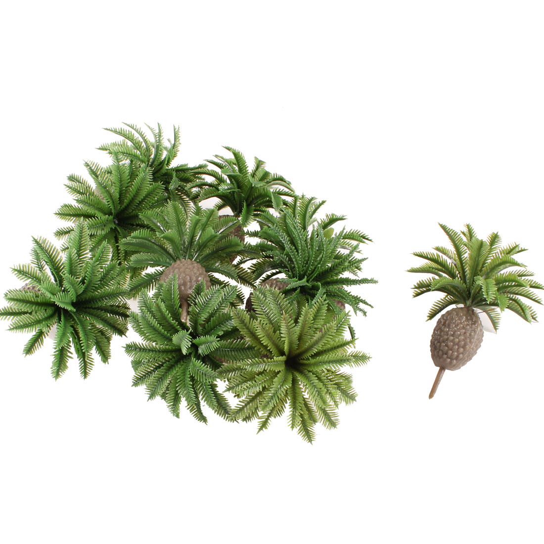 10 Pcs Green Model Sago Cycas Trees Layout Scene 1:100