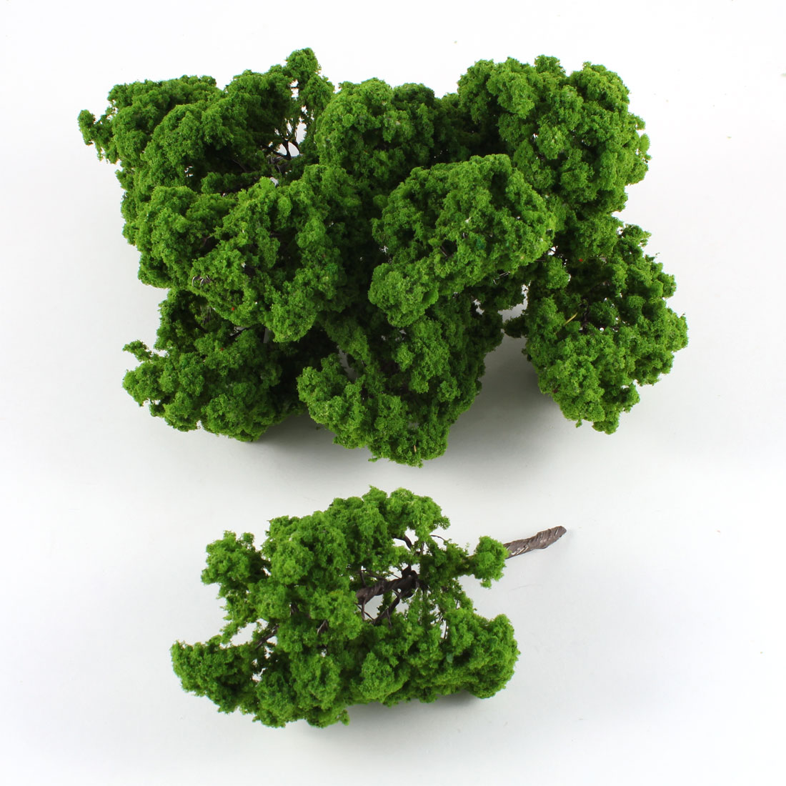 10 Pcs Dark Green Plastic Model Tree Layout Scene 12.5cm High Scale 1:50-60