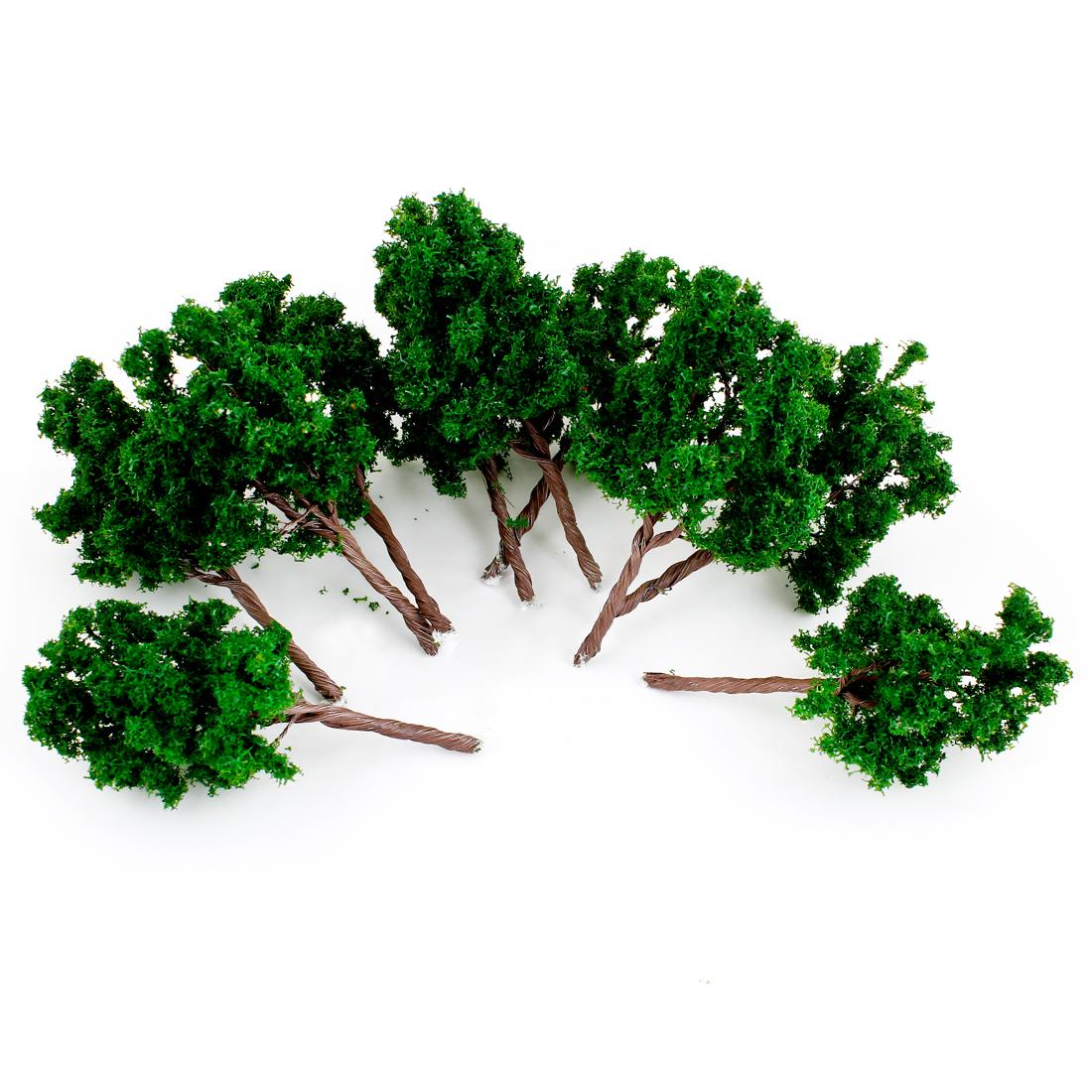 11cm High Scale 1:75-100 Art Green Scenery Model Tree 10 Pcs