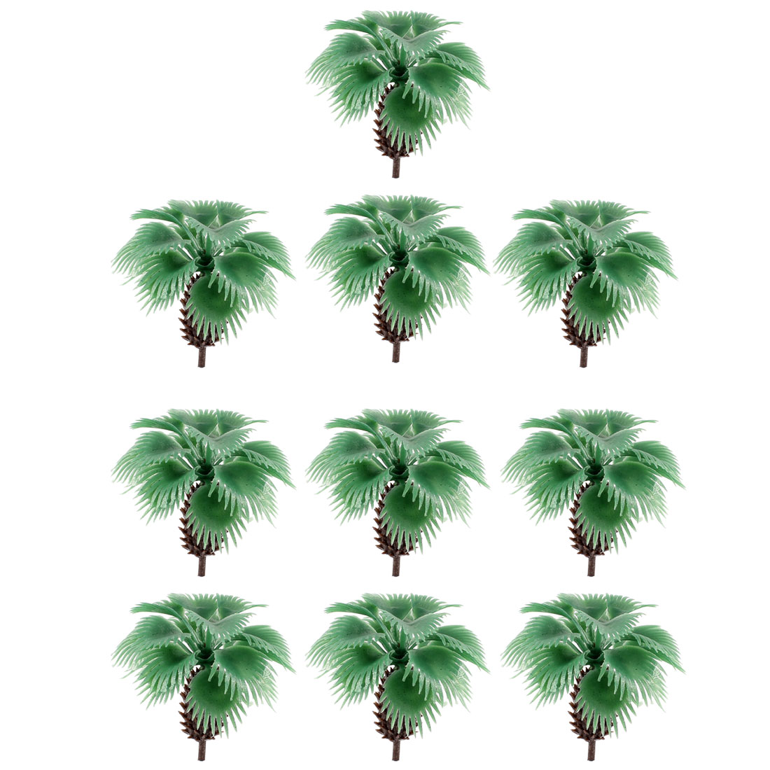 10 Pcs Green Palm Model Trees Layout Scene 1:100