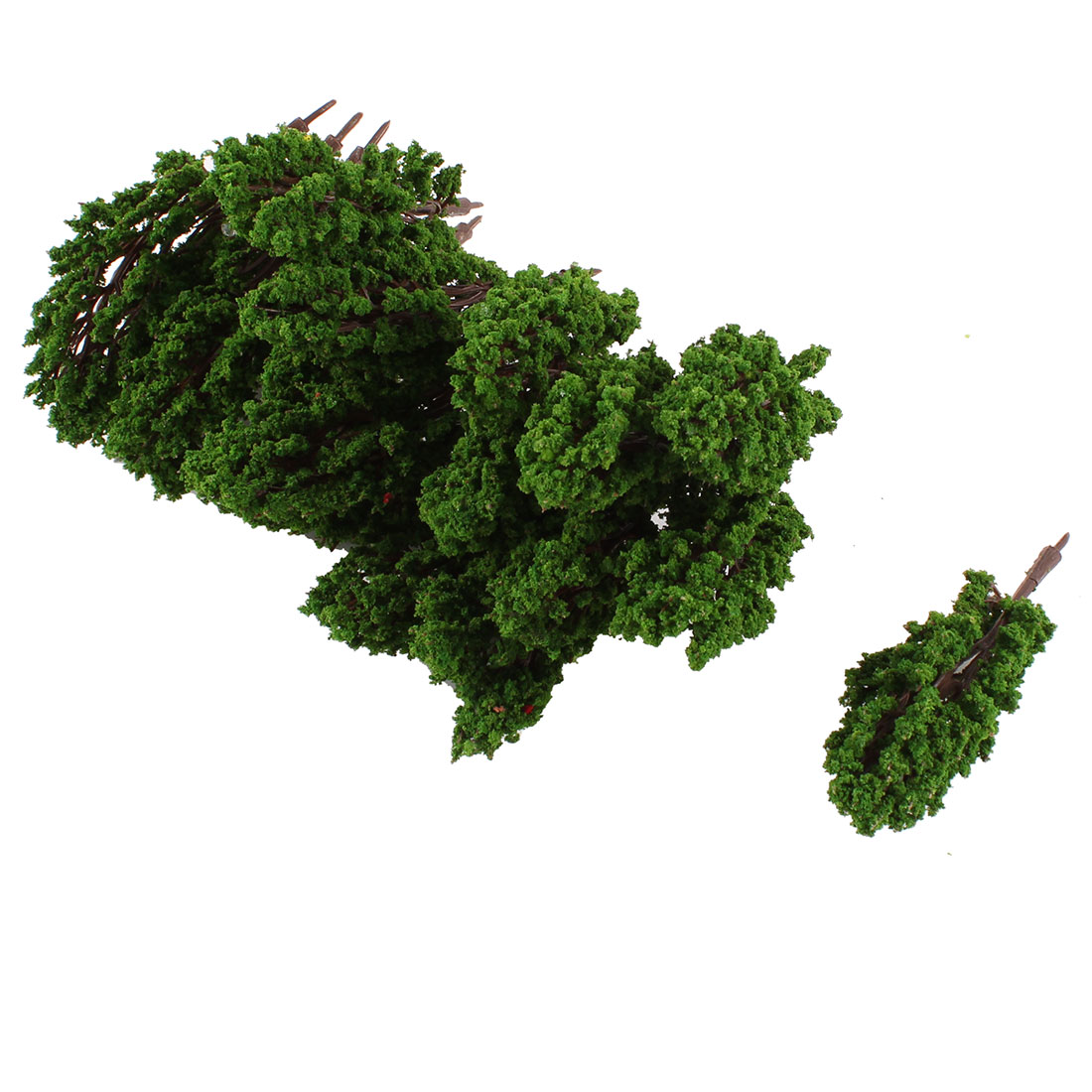 20Pcs 8.5cm Height Artificial Green Leaves Tree Ornamenet 1:150