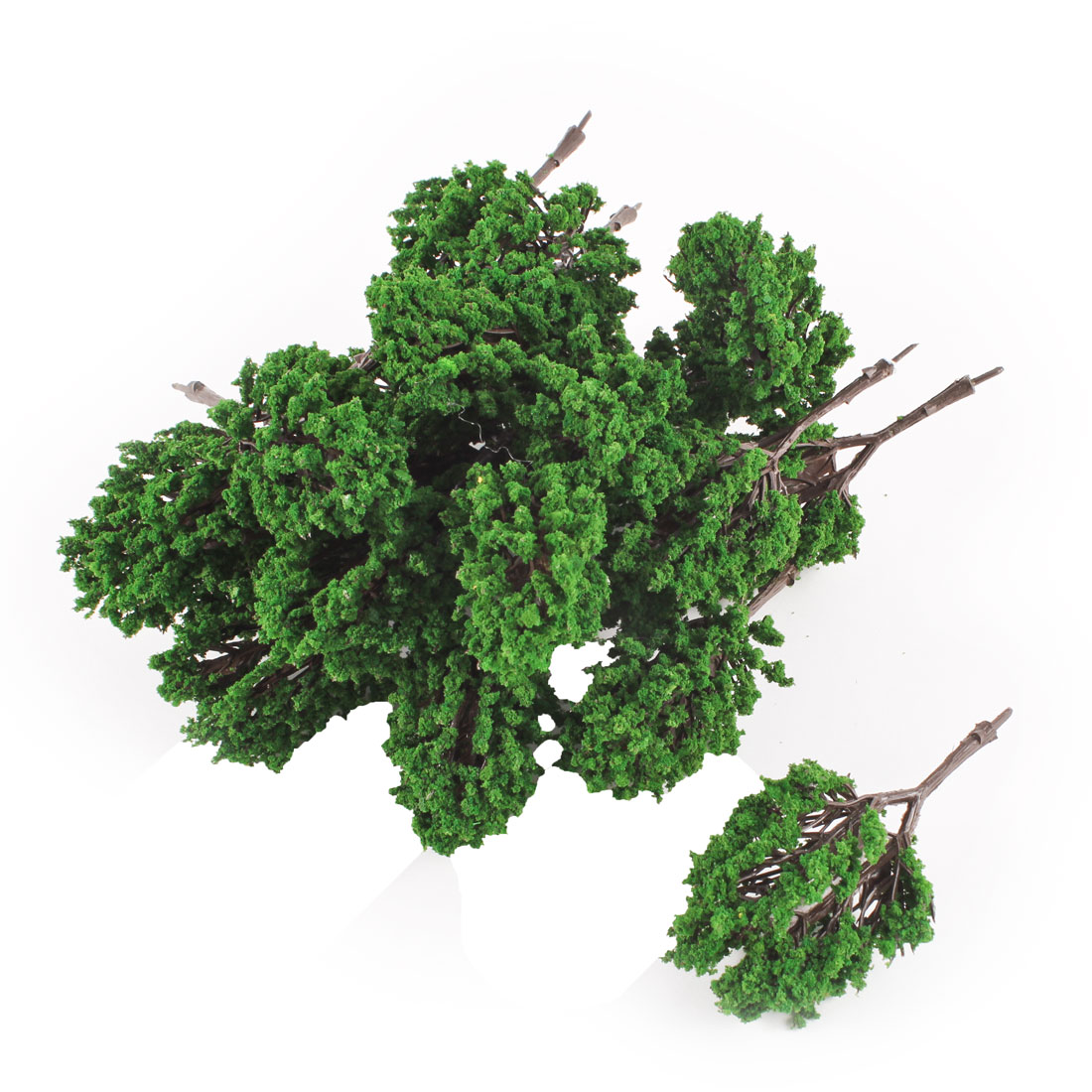 20pcs Green Plastic Model Trees Layout Scene 8cm High 1:150