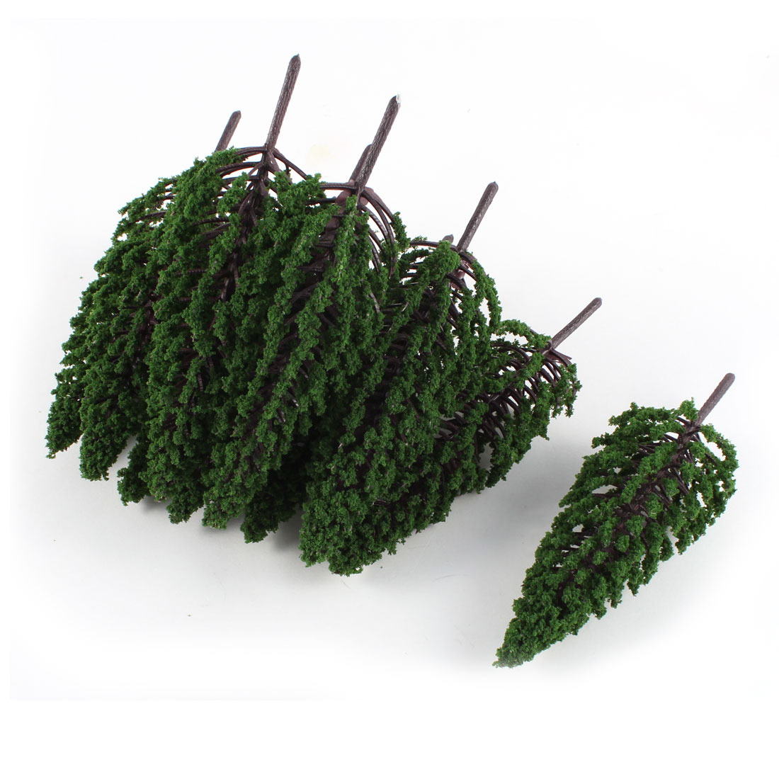 10 PCS Plastic Dark Green Model Tree Layout Scene 1:80-100