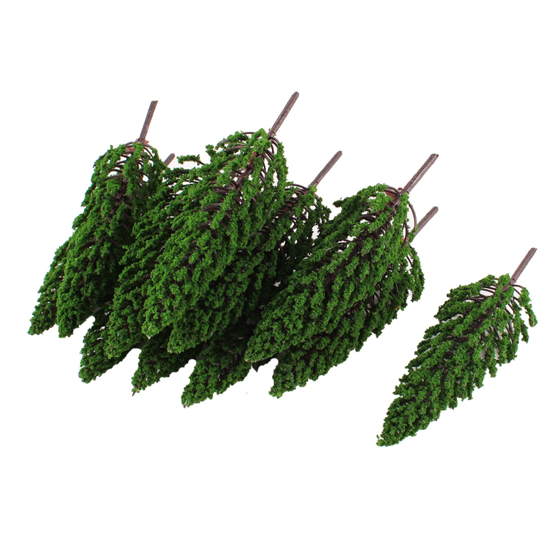"10Pcs 916m 6.3"" Height Artificial Green Leaves Tree Ornamenet 1:50"