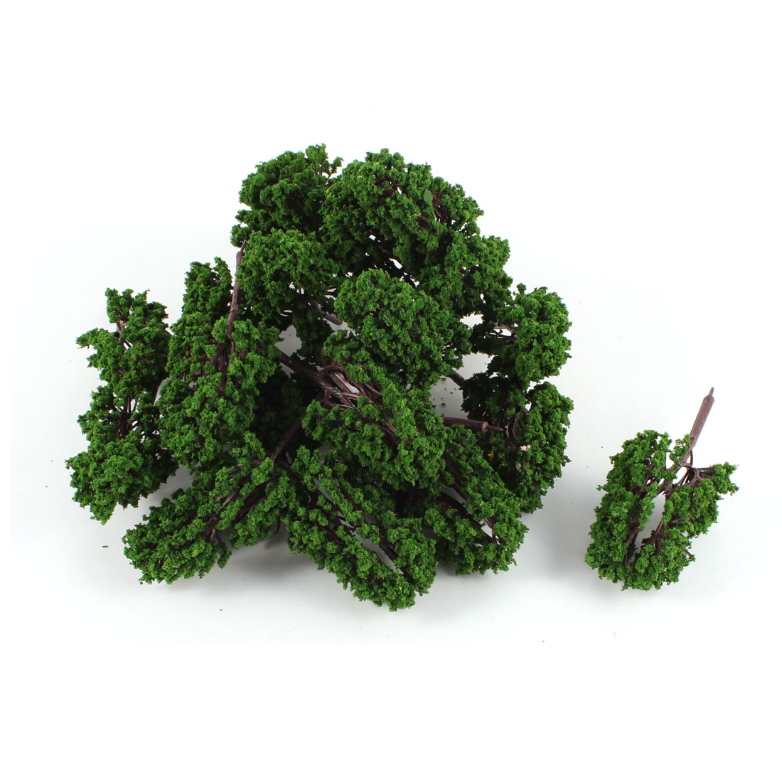 20 PCS Dark Green Plastic Model Tree 10cm Height Scale 1:100