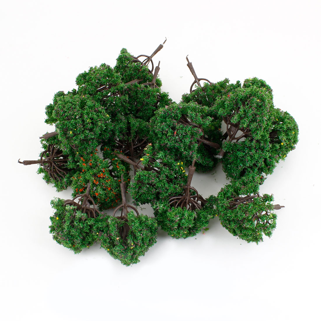7cm High Scale 1:100 Artificial Green Plastic Model Trees 20 Pcs