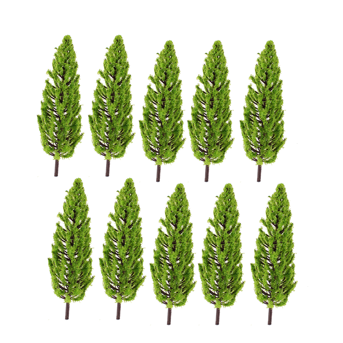 "10 Pcs Light Green Tower Model Trees Layout Scene 1:50 6.3"" High"