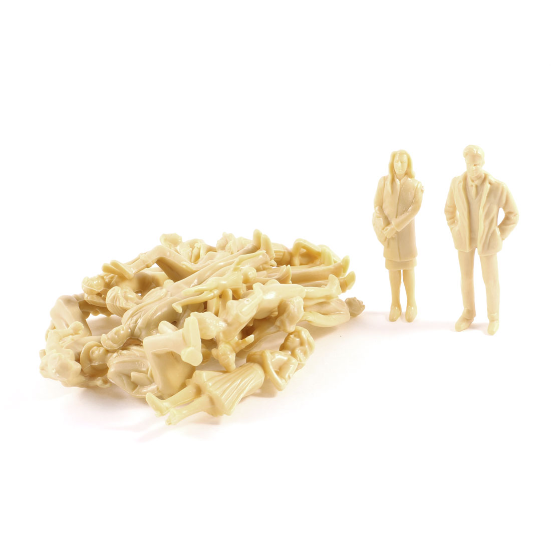 20 PCS Beige Varied Posture Different Clothes People Models Toy