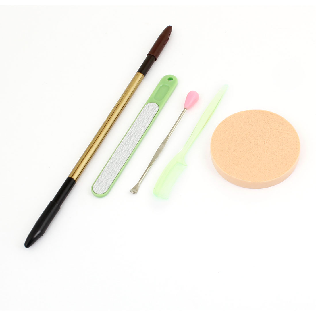 Lady 5 in 1 Double Heads Eyebrow Pencil Round Sponge Cosmetic Tool Set