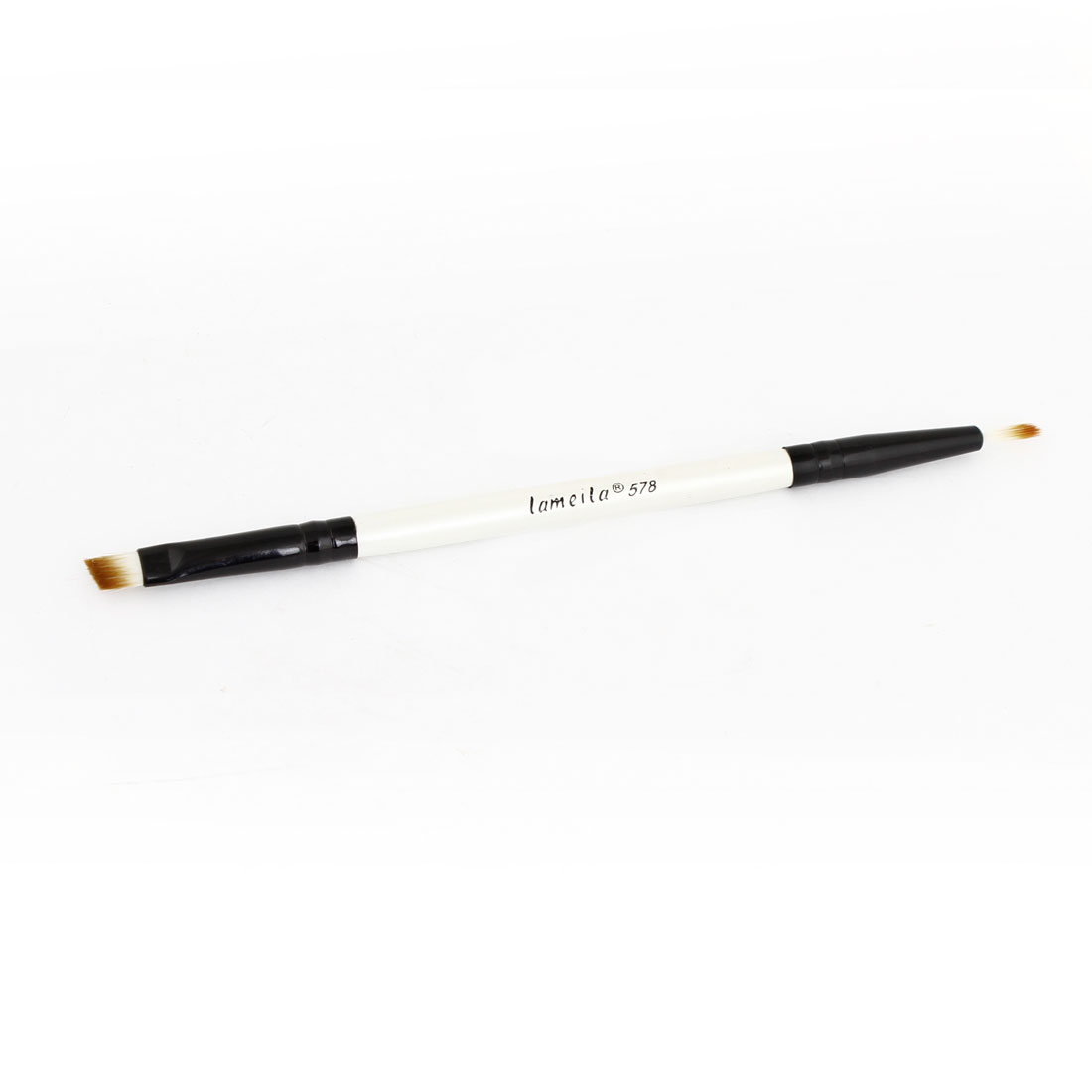 "5.5"" Long Double Heads White Black Eyeshadow Brush Cosmetic Tool for Woman"
