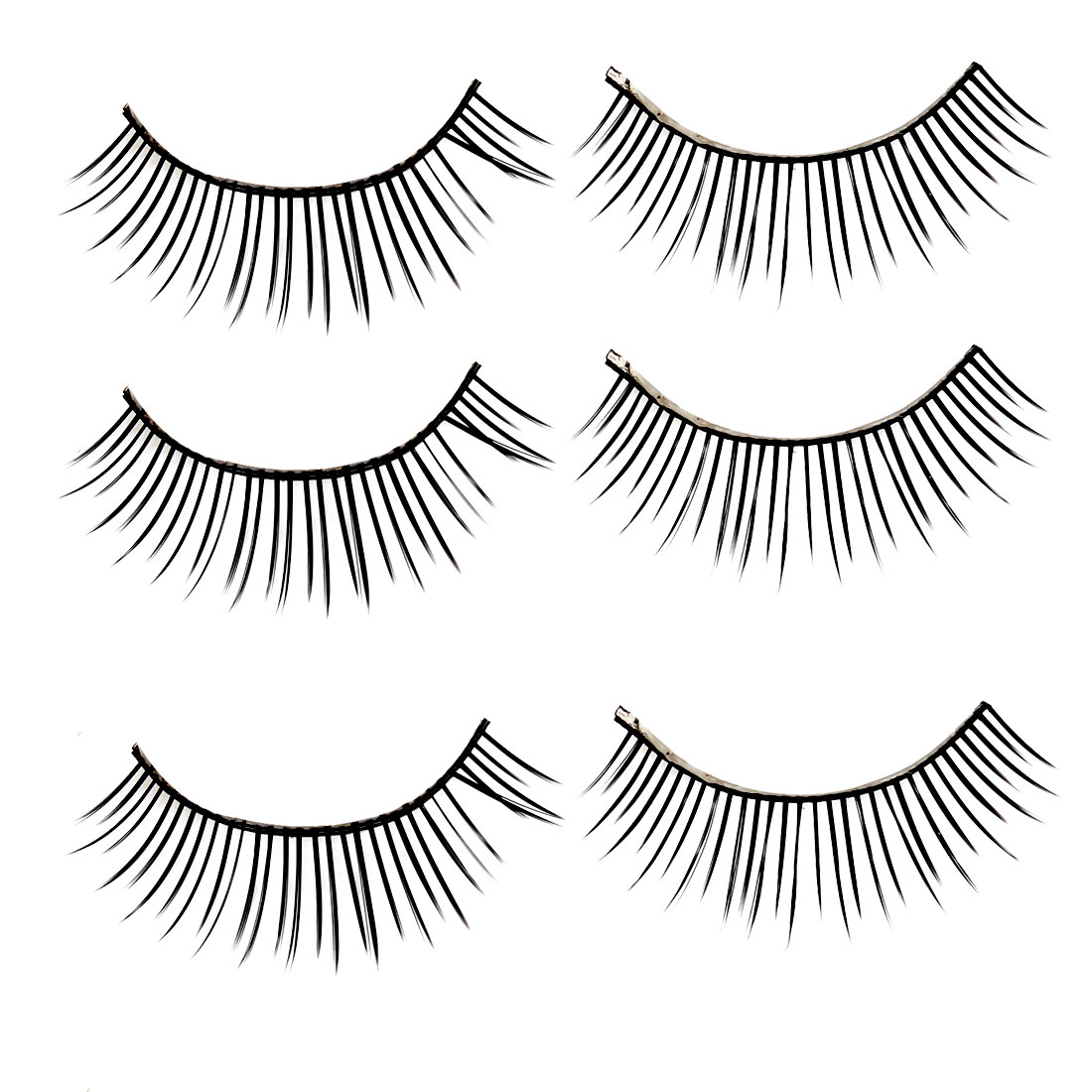 3 Pairs Black Long Thick Fake False Eyelashes Eye Lash Makeup Tool for Lady