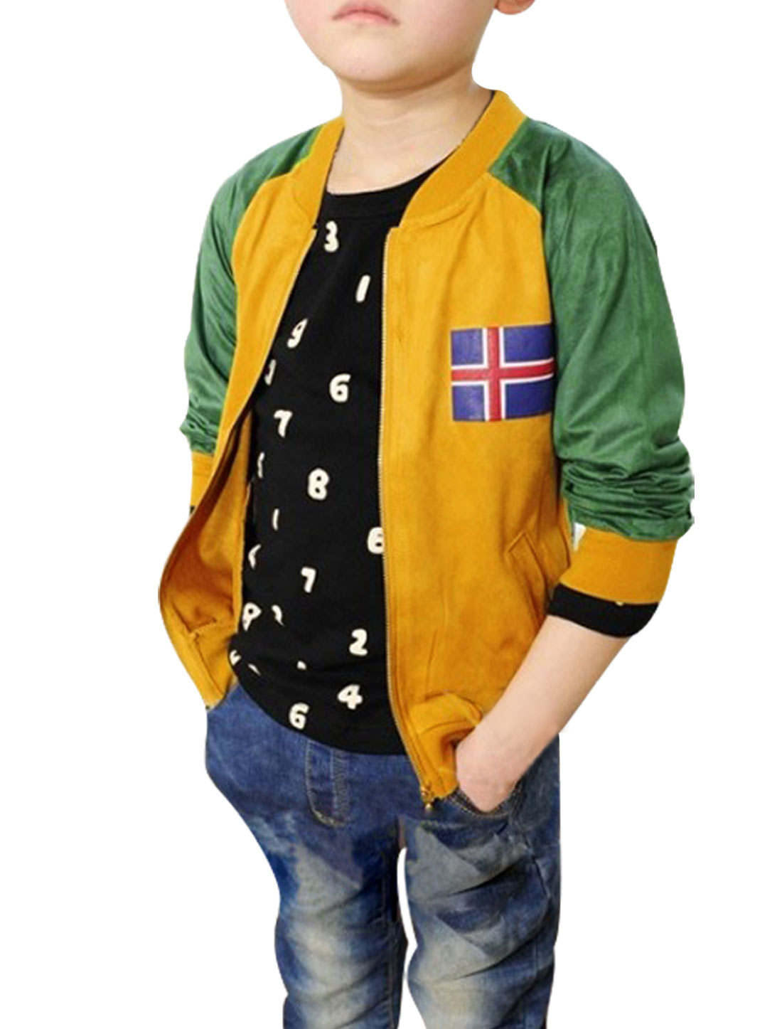 Boys Raglan Sleeve Long Sleeve Panel Top Jackets Curry Green 7