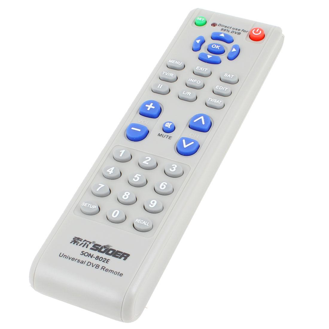 SON-802E Replacement Universal TV Remote Controller Gray