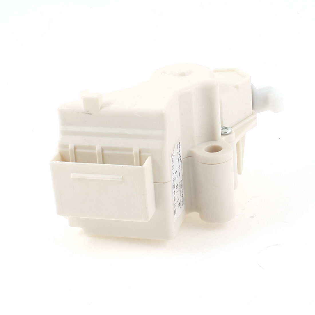 Off White Plastic Washing Machine AC 220V 50Hz Drain Valve 3 Pin Plug Tractor