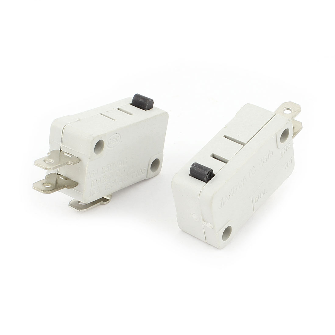 250VAC 16A SPDT 1NO 1NC 3P Momentary Pushbutton Limit Microswitch 2pcs
