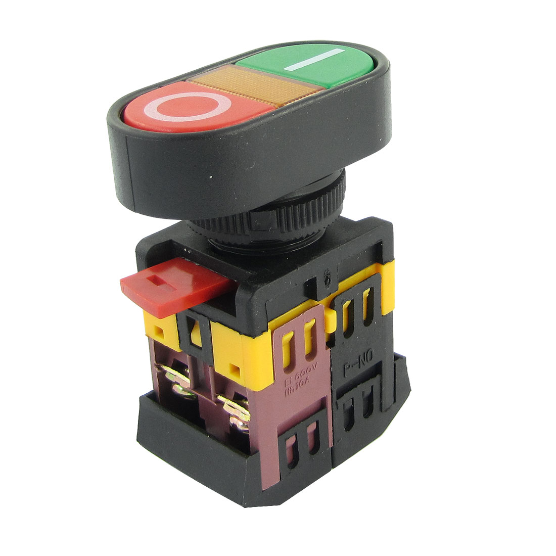 AC 600V 10A ON OFF START STOP Momentary Pushbutton Switch with 220V Neon Light