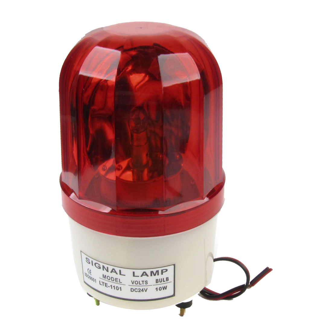 DC24V 10W Dome Case Industrial Rotary Signal Light Red LTE-1101J