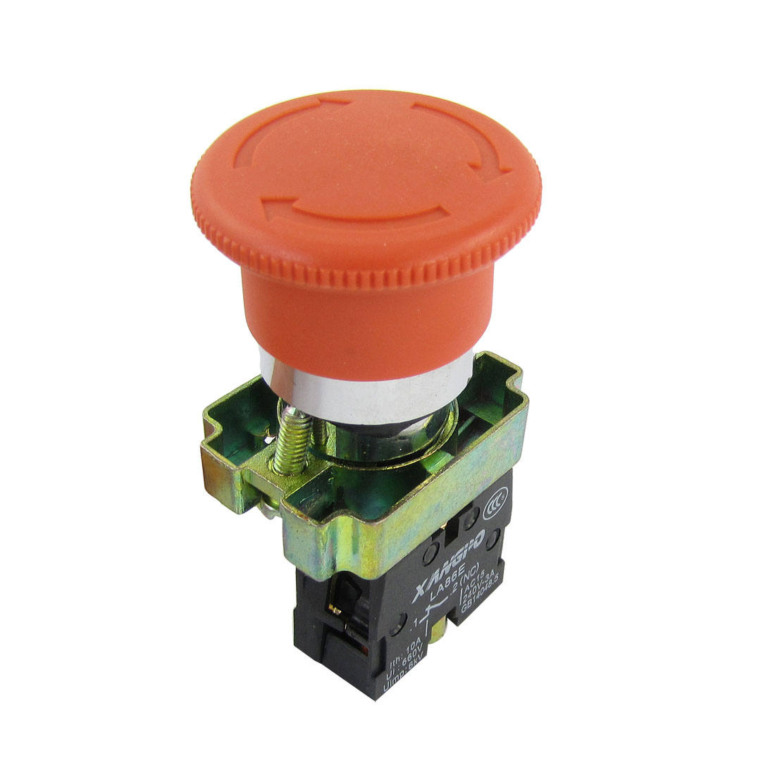 AC 240V 3A SPST Red Sign Mushroom Head Emergency Stop Push Button Switch