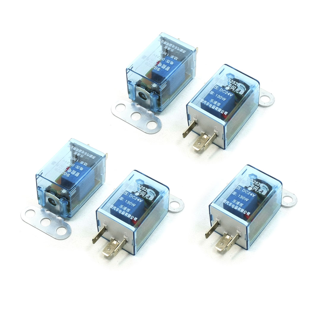 DC 24V 130W 3 Terminal LED Light Fast Blink Flash Auto Car Flasher Relay 5 Pcs