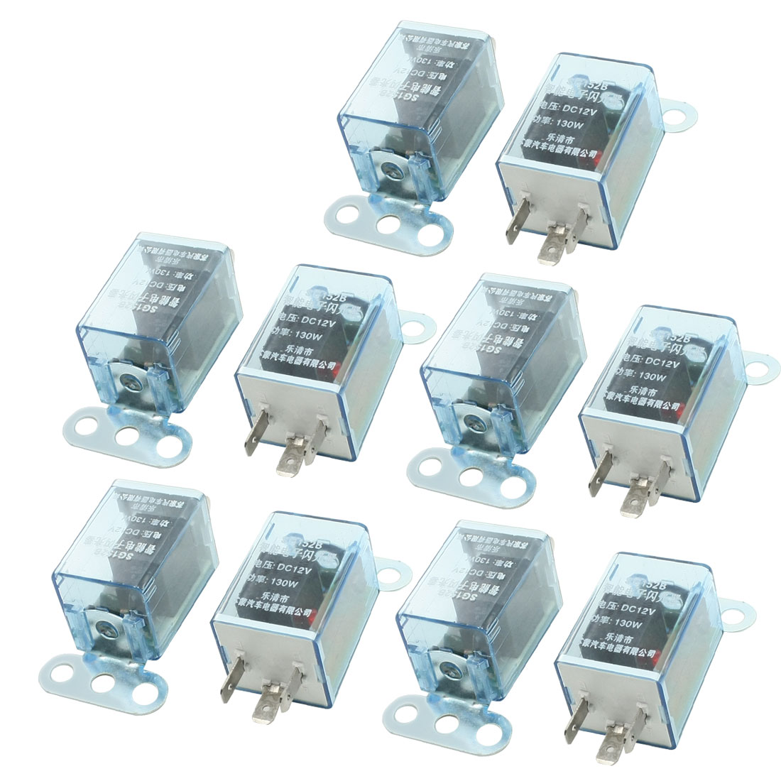 10 Pcs Universal DC 12V LED Light Indicator Lamp 3 Terminals Car Flasher Relay