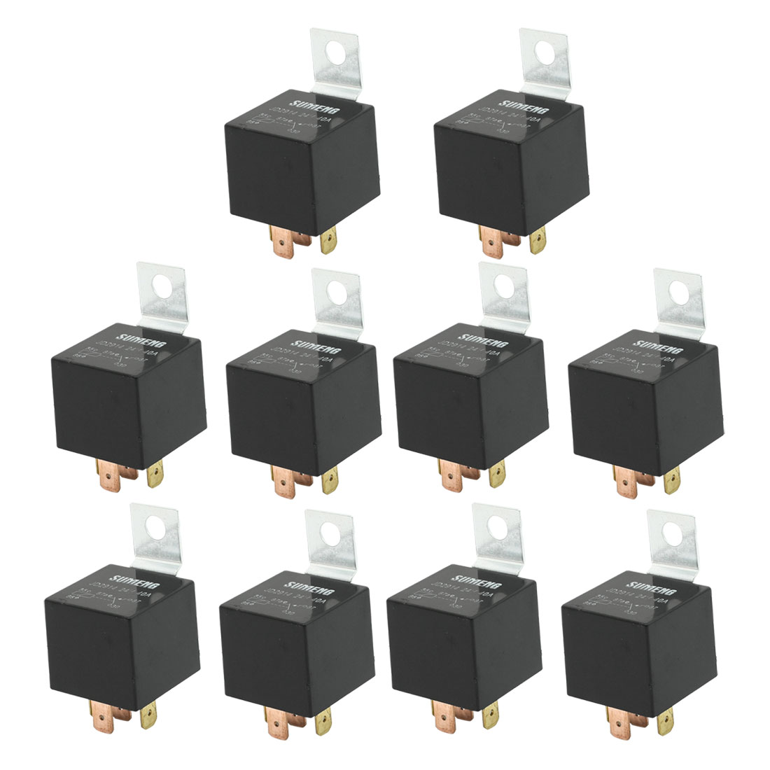 DC 24 Volts 40A 1NO+1NC SPDT 5 Pin JD2914 Type Auto Car Relay 10 Pcs