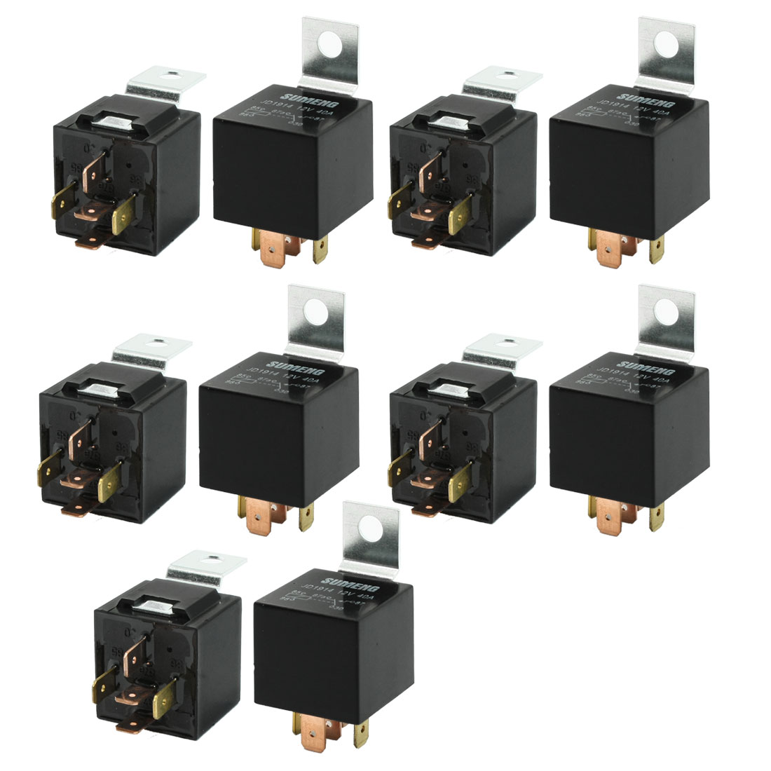 10 Pcs Car Vehicle Security 5 Pin SPDT Power Relay DC 12V 40A