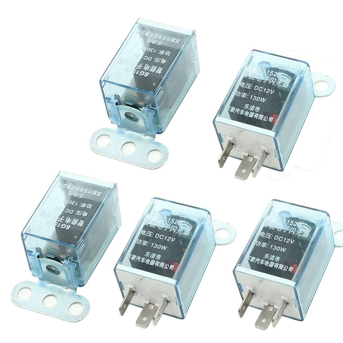 DC 12V 3 Pin LED Pilot Lamp Car Flasher Relay for Turn Singal Light 5 Pcs