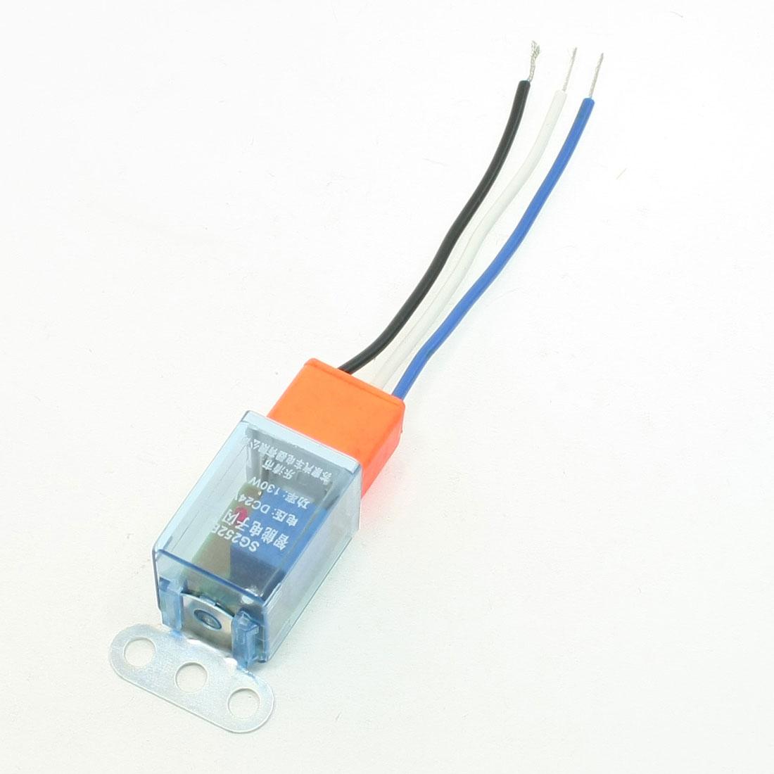 Orange Ceramic Socket DC 24V LED Signal Indicator Car Auto Flasher Relay 2 Pcs