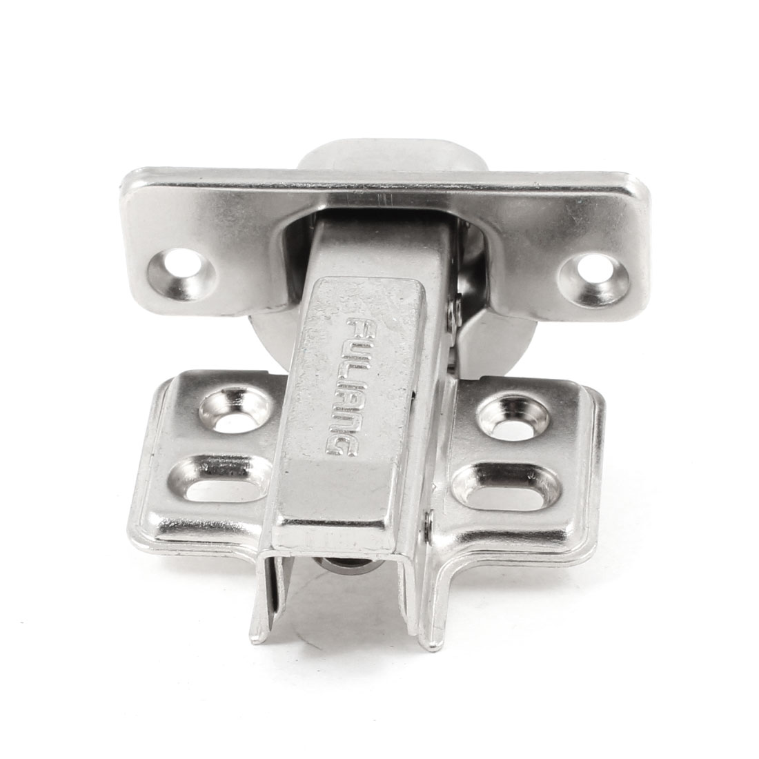 Hardware Part 4.2mm Diameter Mounting Hole Buffer Cabinet Door Hinge Silver Tone