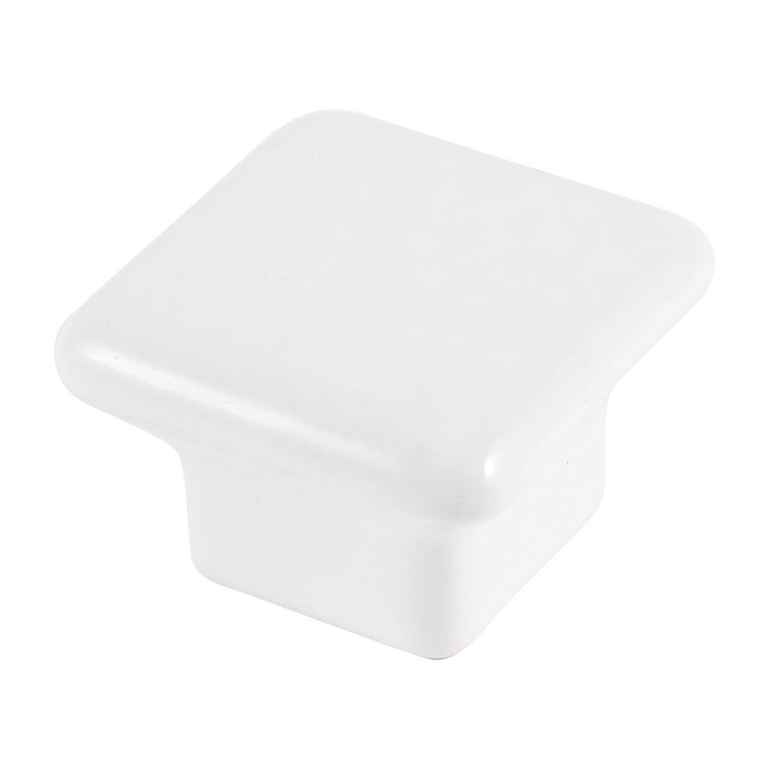 White 3.8mm Diameter Thread Ceramic Pull Handle for Cabinet Drawer Door