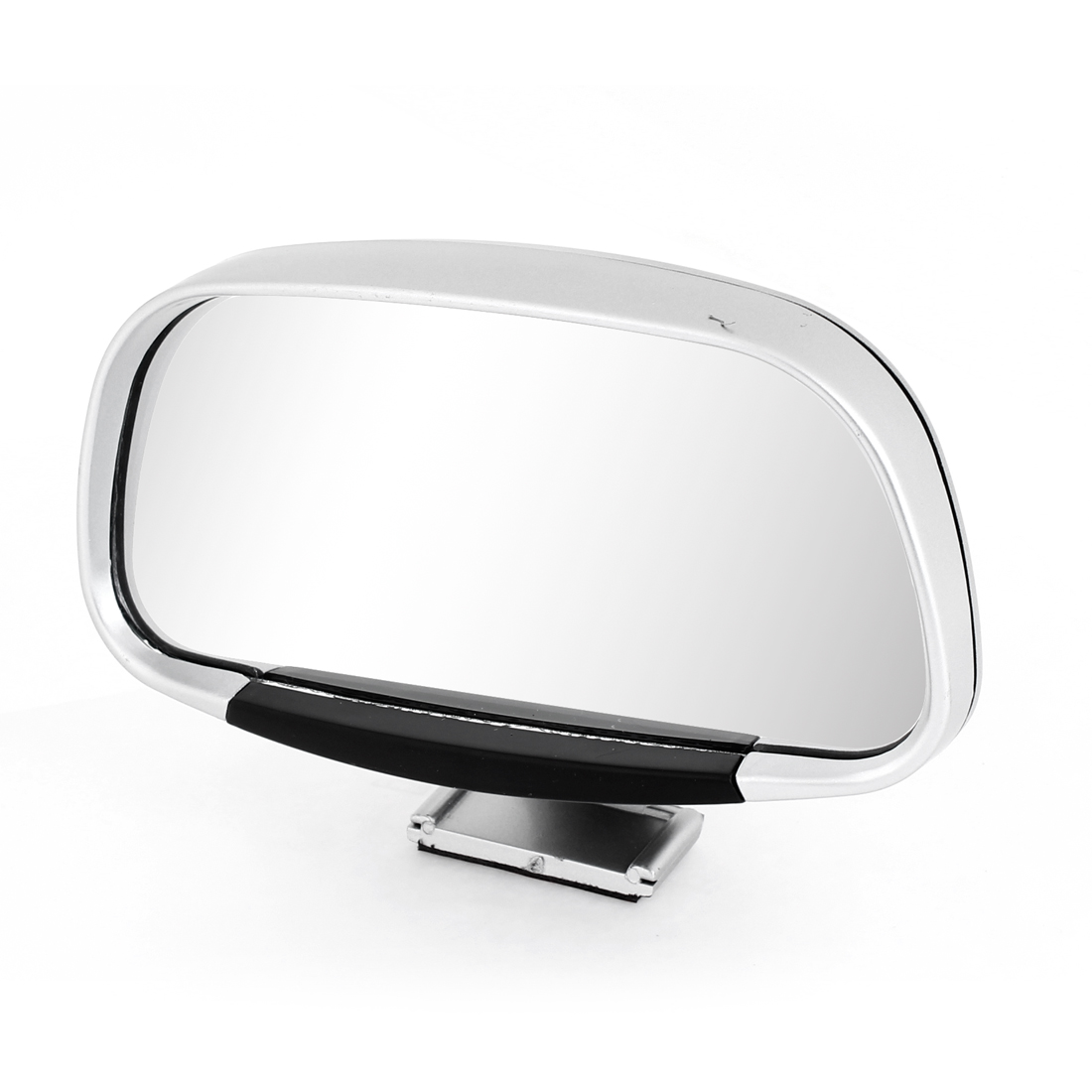 Silver Gray Plastic Casing Car Side Blindspot Blind Spot Mirror Wide Angle View