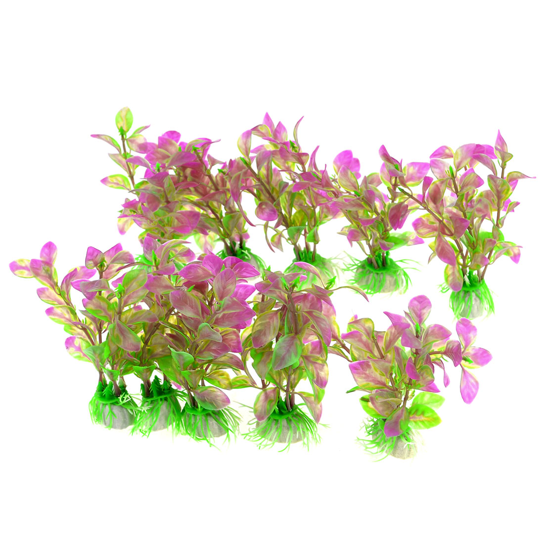 "10PCS 4.3"" Green Purple Underwater Aquascaping Emulational Aquatic Plant"