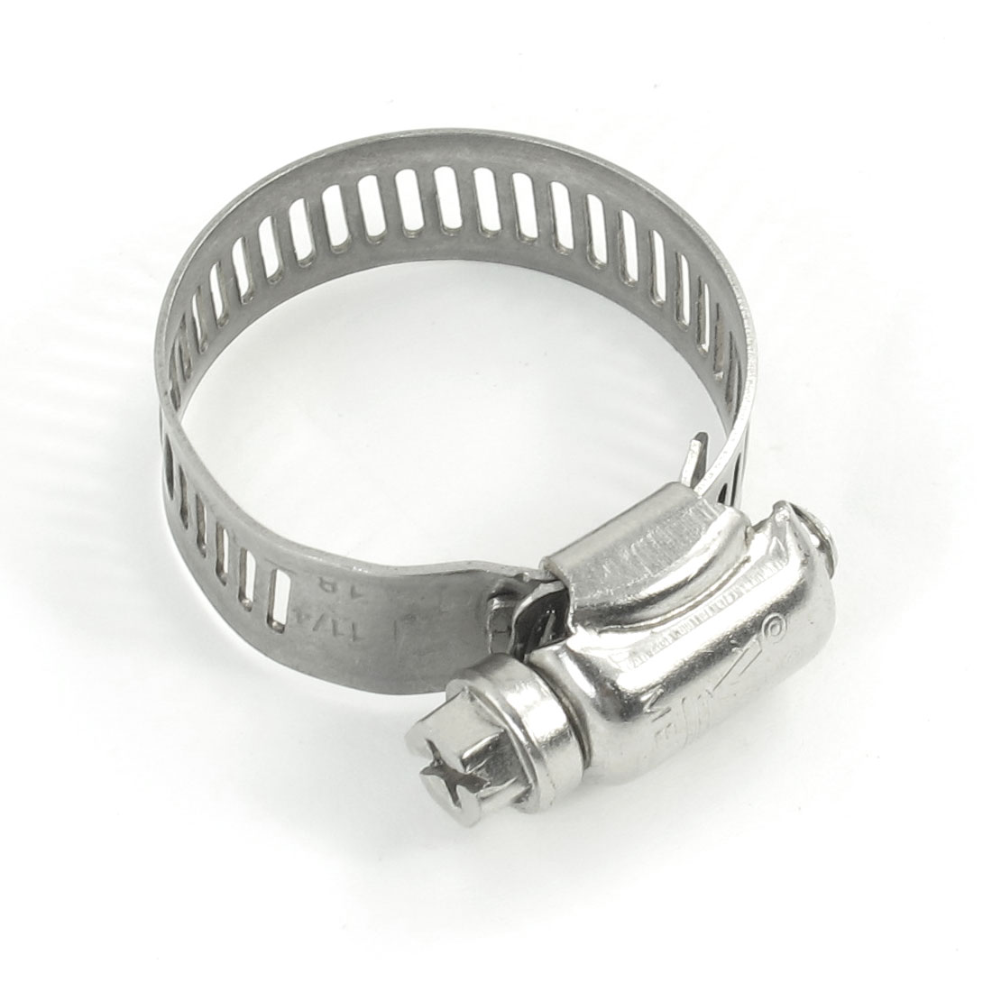 Bolt Release 18mm to 35mm Silver Tone Stainless Steel Adjustable Hose Clamp