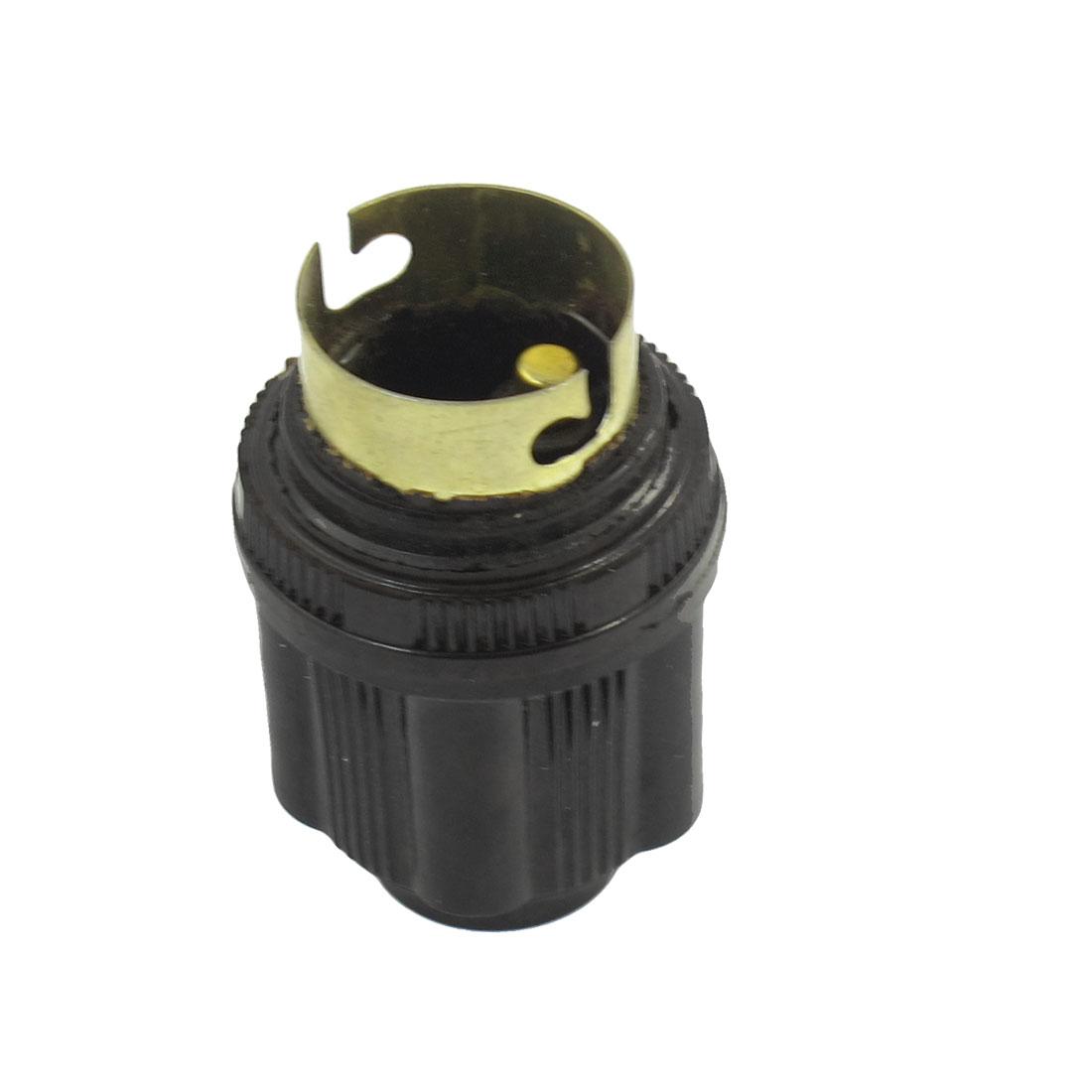 Black Round Bulb Socket Plastic Light Lamp Holder AC 220V 5A
