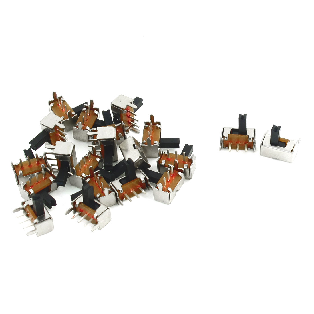 20 Pcs ON/ON 2 Position 1P2T SPDT Panel PCB Mini Slide Switch Right Angle