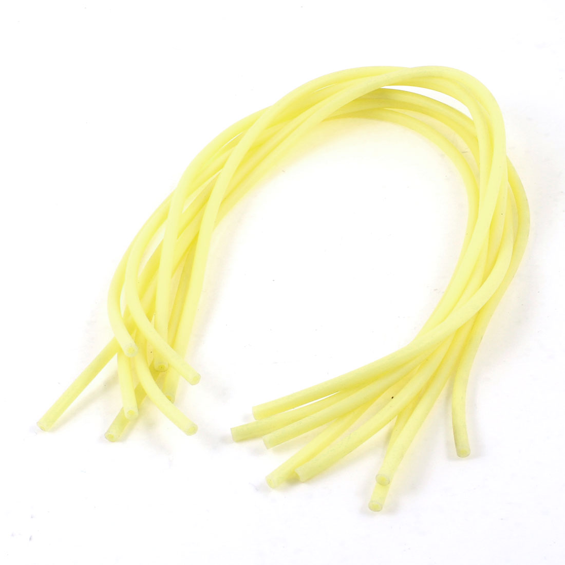 "9 Pcs 13.4"" Long Ivory Soft Rubber Tubing Replascement for Bicycle Valve"