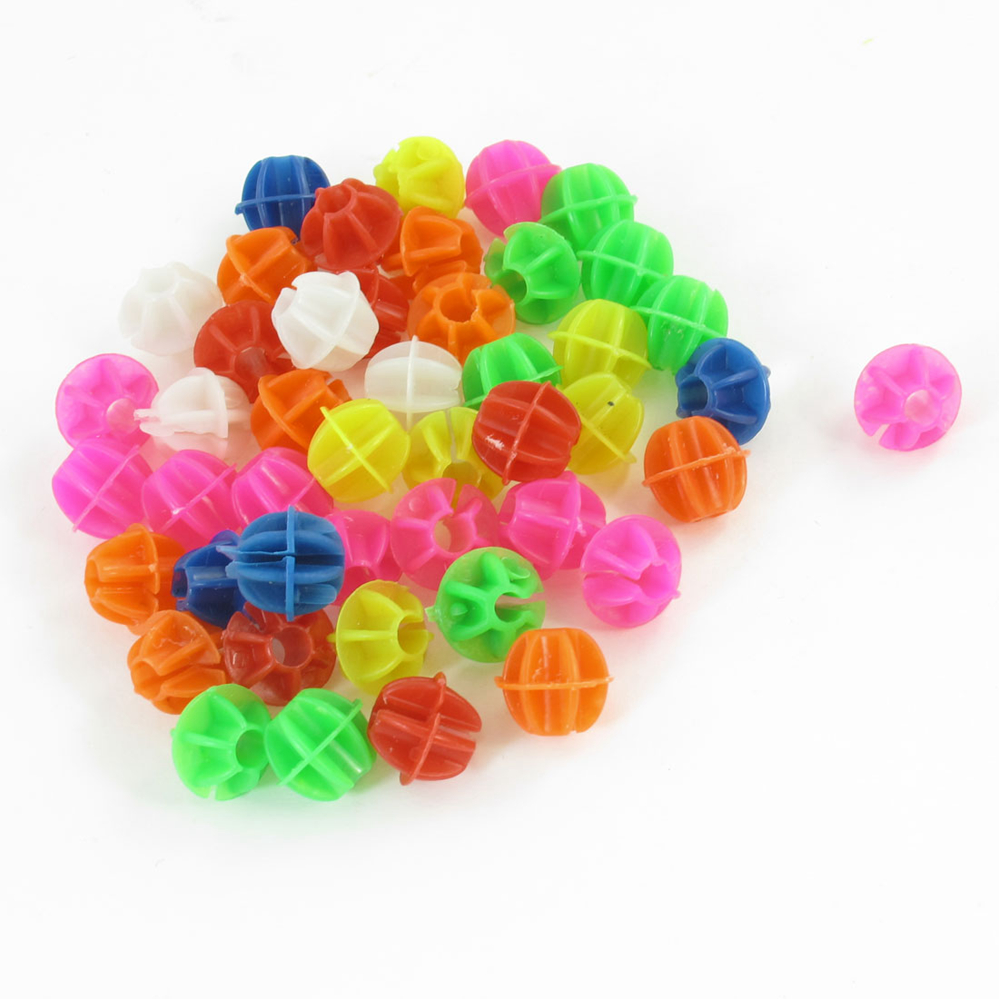 46 Pcs Colorful Plastic Clip Spoke Bead Bicycle Ornament for Bike