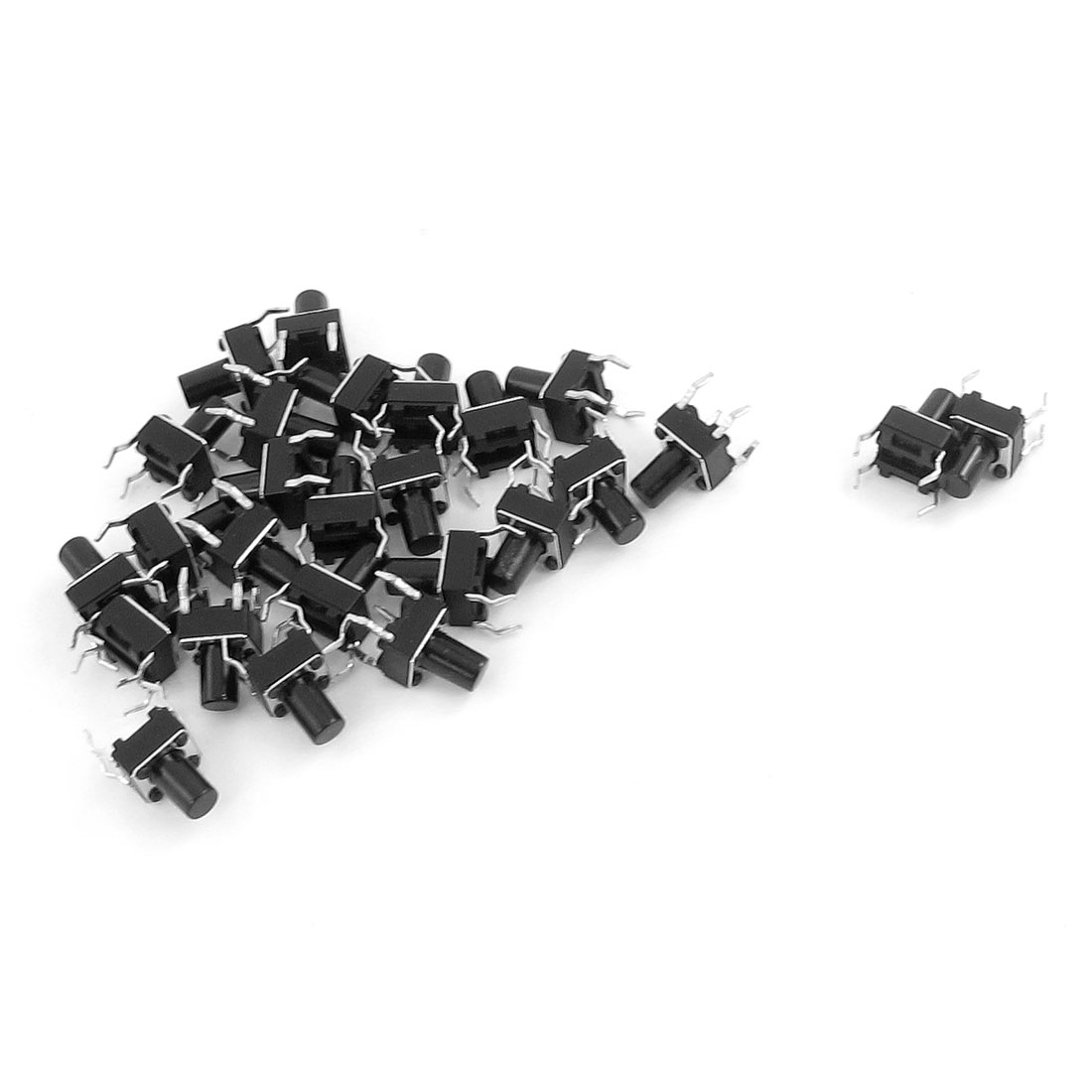 26 Pcs 6 x 6mm x 12mm PCB Momentary Tactile Tact Push Button Switch 4 Pin DIP