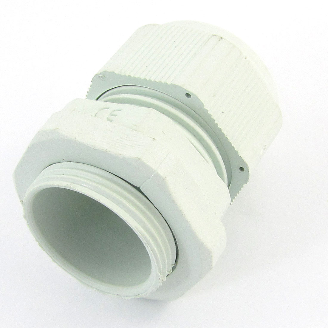 White Plastic Waterproof Protective Cables Glands Connector Joints PG21