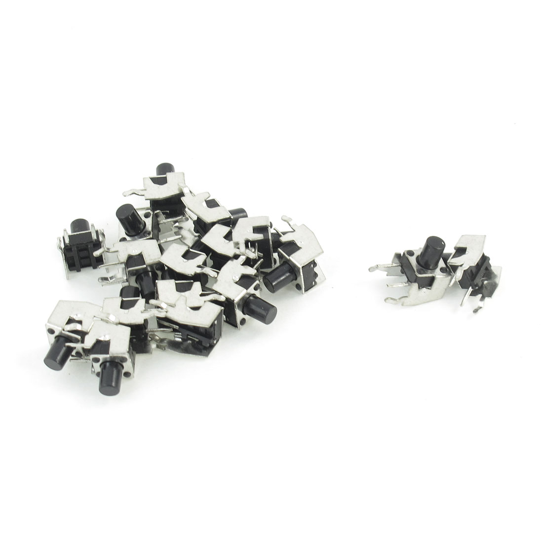 17 Pcs Momentary Right Angle Tact Press Button Switch 6.2mm x 6.2mm x 3.2mm