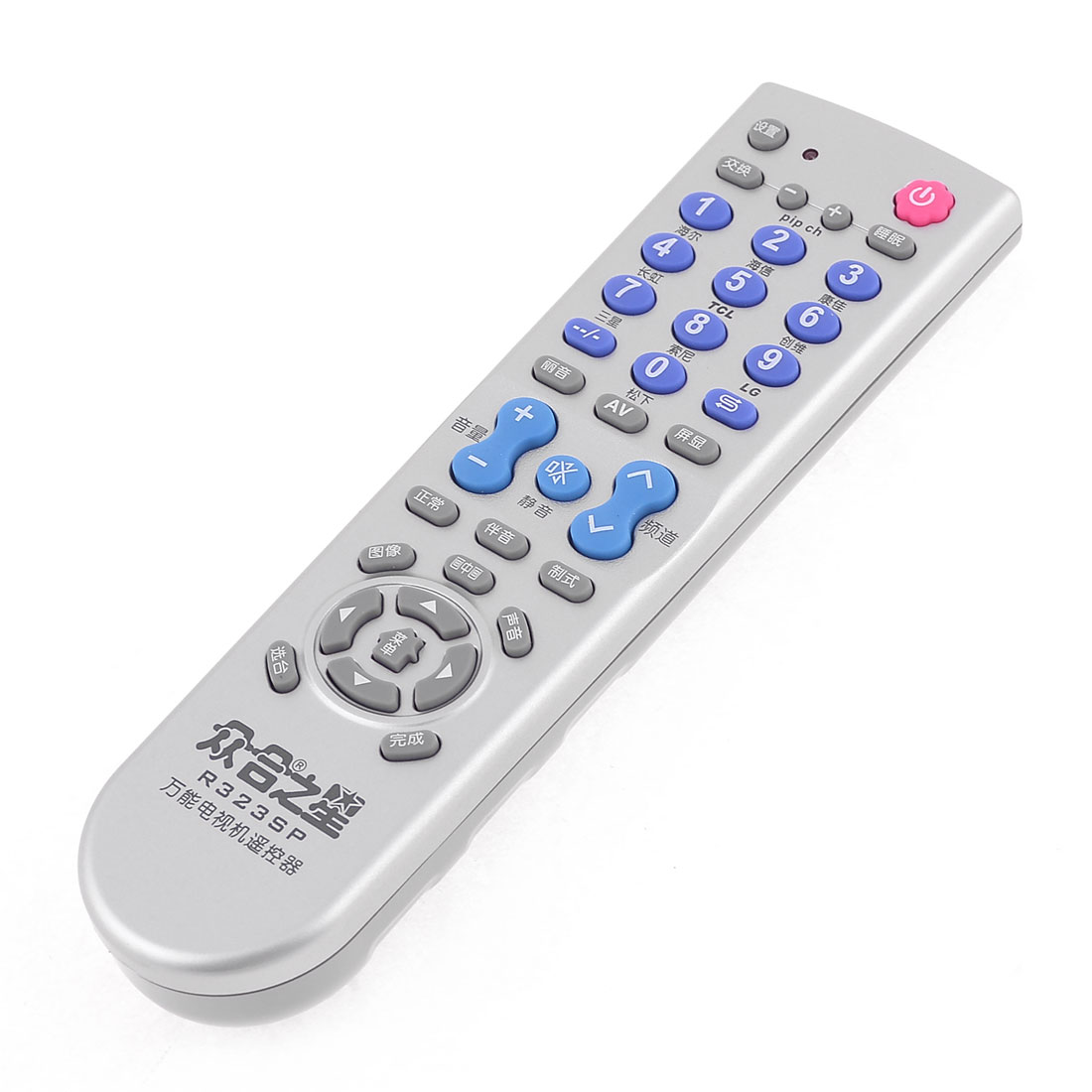 "Gray Universal Television Controller Replacing TV Remote Control 6.5"" Long"