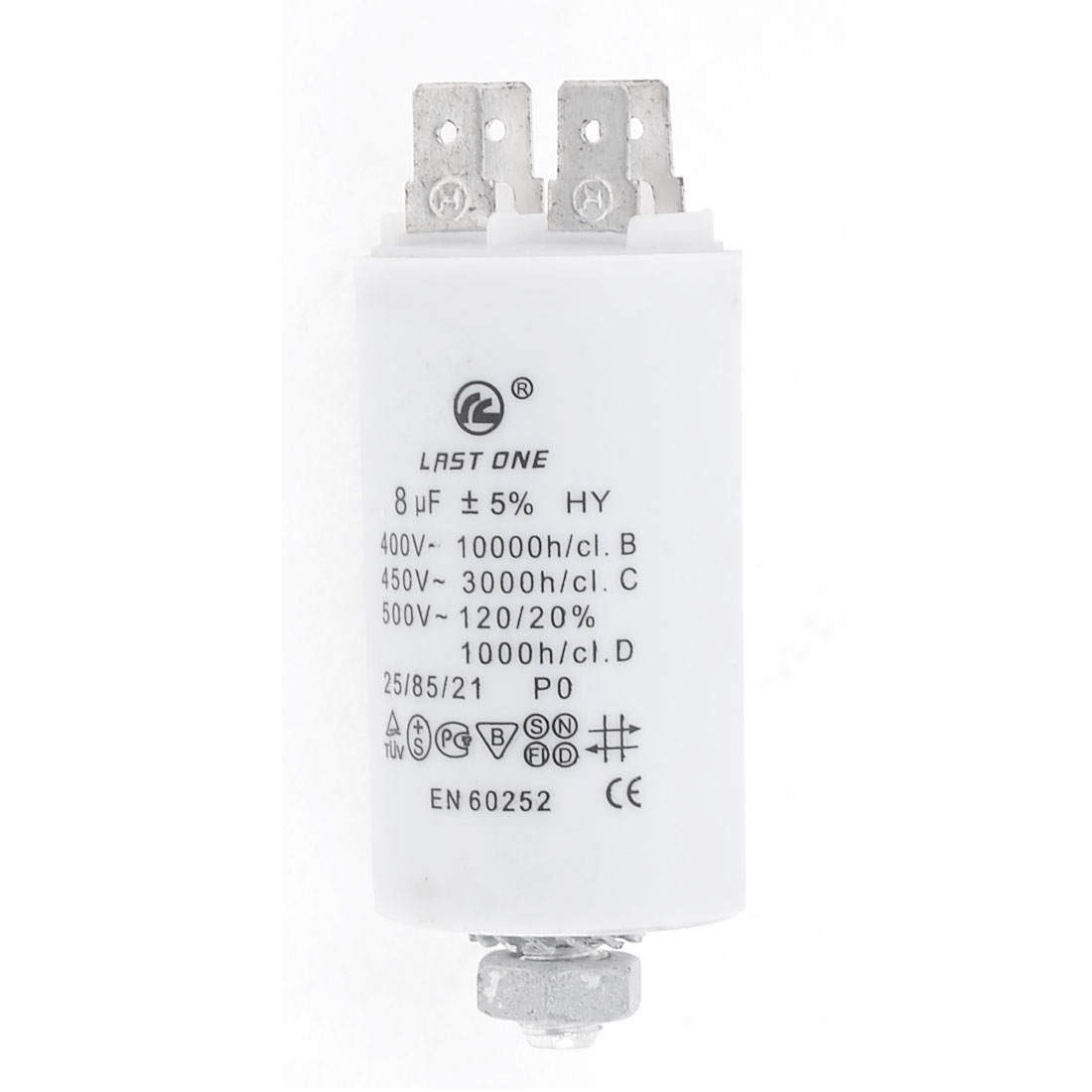 AC 450V 8uF 50/60Hz Washing Machine CBB60 Nonpolar Motor Running Capacitor