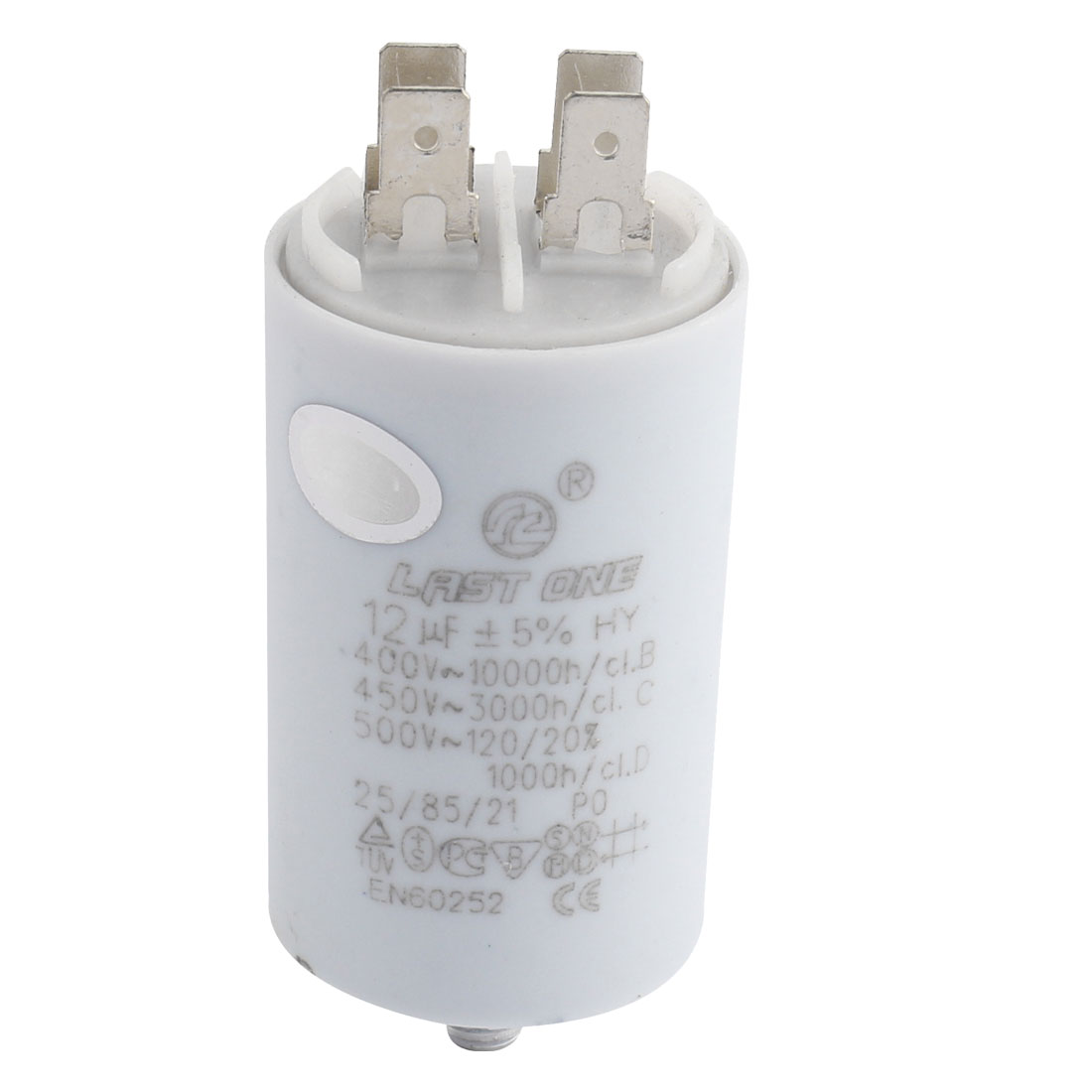 CBB60 AC 450V 12uF 8mm Thread Washing Machine Polypropylene Film Capacitor