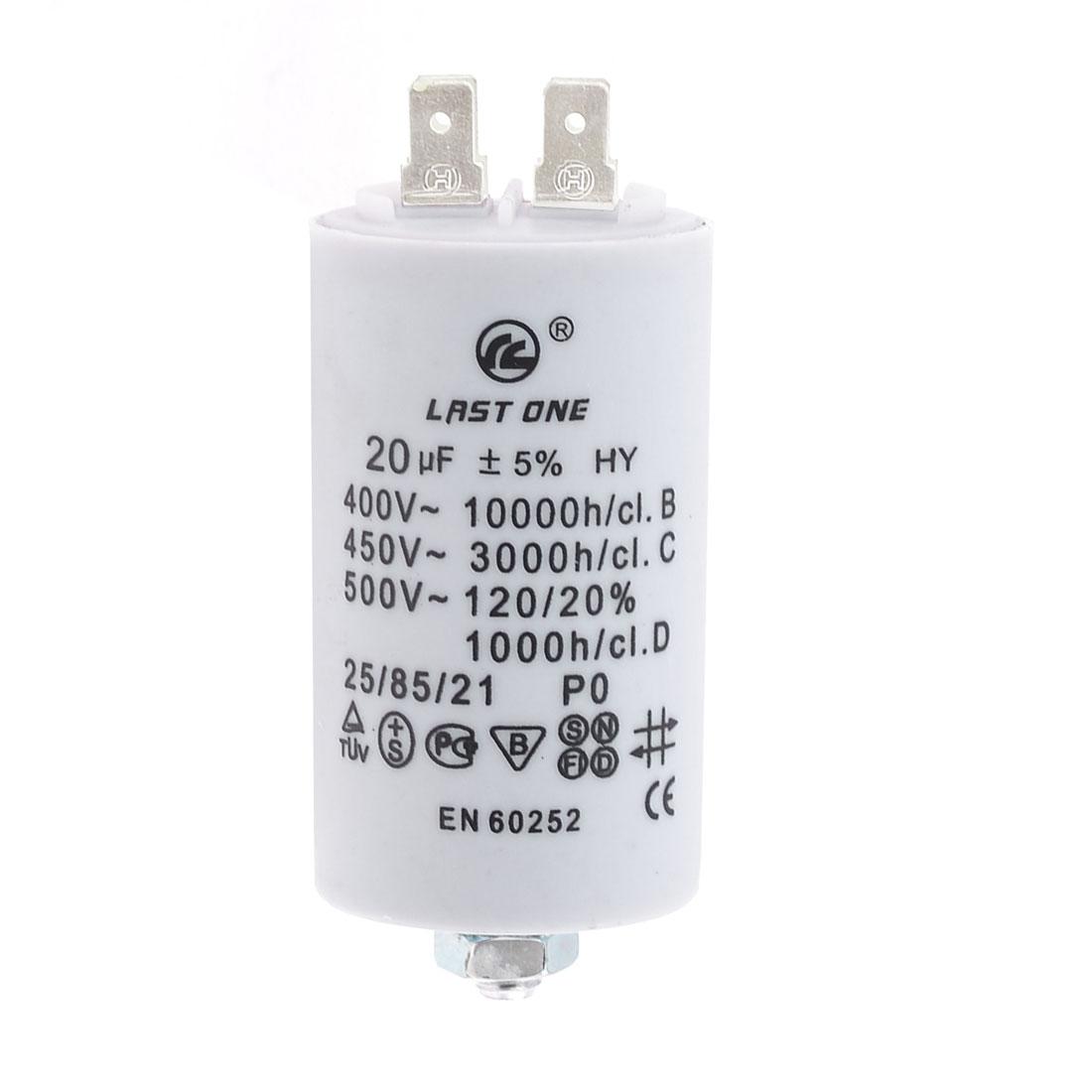 20MFD 20uF 450V Cylinder Electric AC Motor Running Capacitor