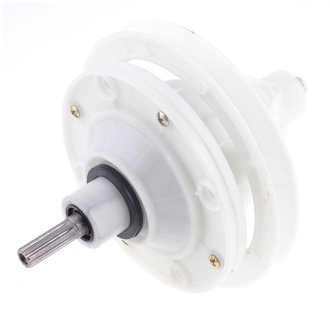 "4.5"" Dia Speed Gear Box Round Shaft NBR Washing Machine Gear Reducer Off White"
